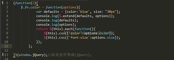 jquery插件的写法